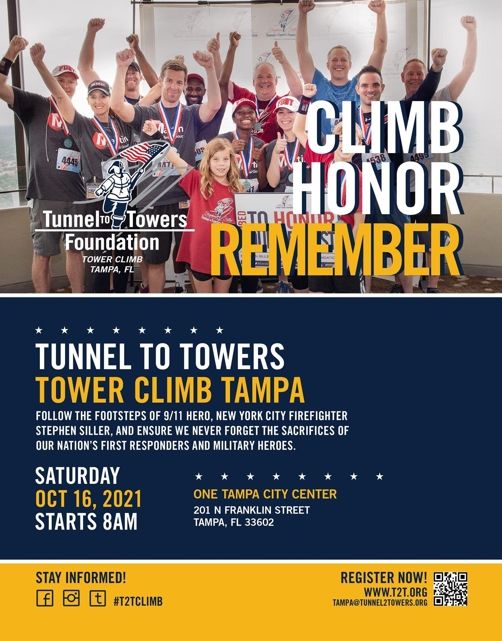 Stair climb October 16 benefitting wounded veterans and fallen first responders